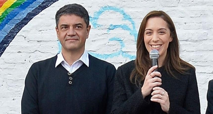 Vicente López: Vidal cierra su campaña con choripán en la cancha de Platense y sin Macri