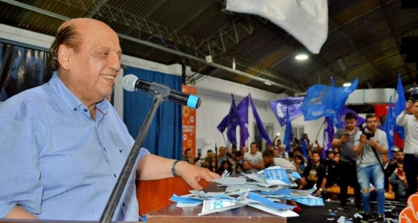 Juan José Mussi en su regreso como intendente de Berazategui, arrasó con el 66% de los votos