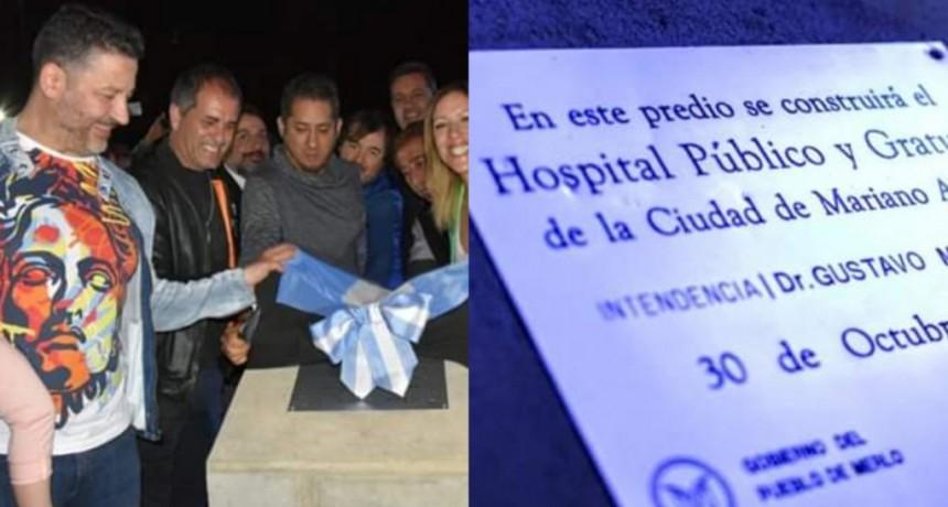 Merlo: Menéndez colocó la piedra fundacional del Hospital de Mariano Acosta