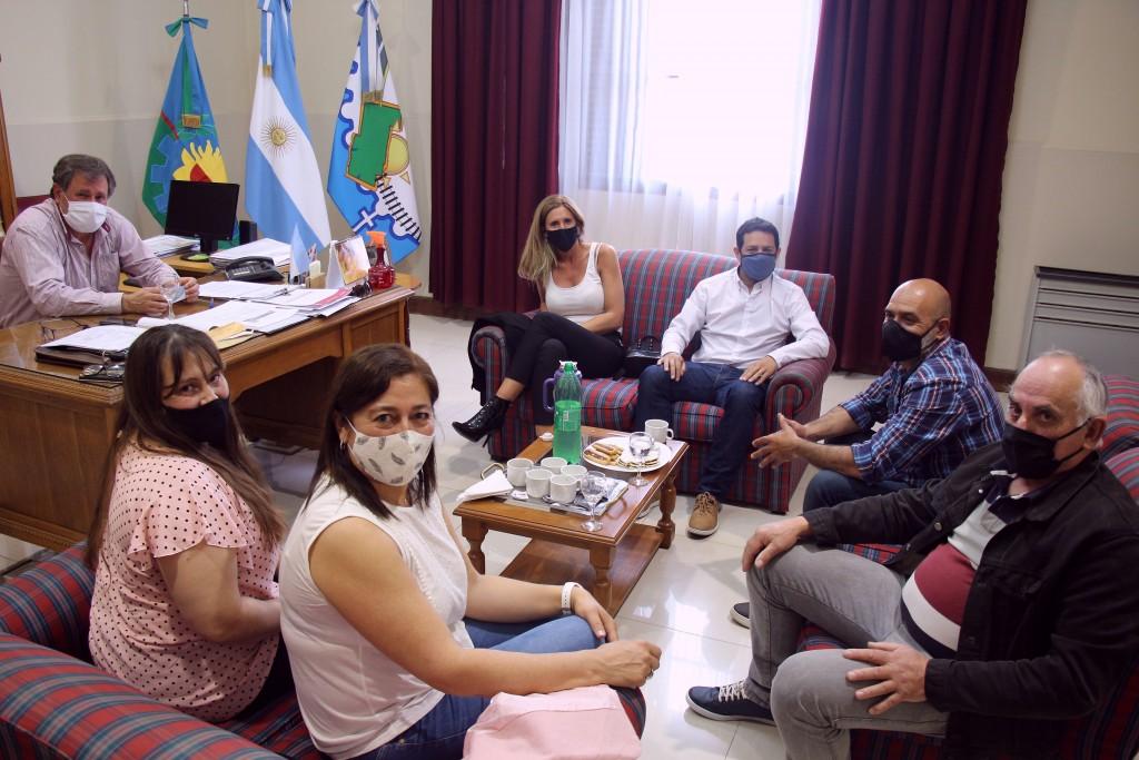 Suipacha: El referente regional del Servicio Alimentario Escolar fue recibido por el jefe comunal