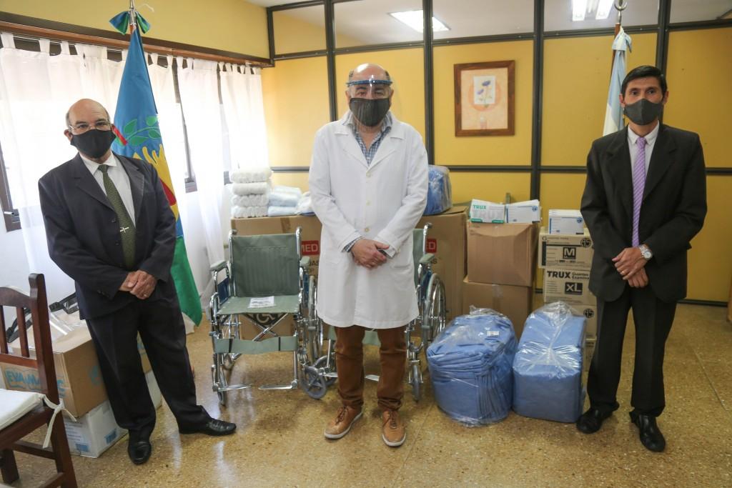 San Pedro: Entrega de insumos y elementos para el Hospital