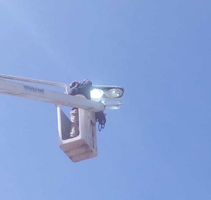Merlo: Reparación de luminarias en los accesos