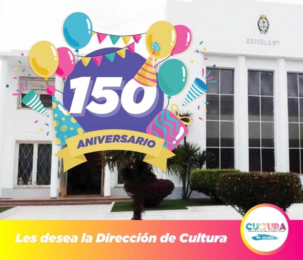 Gral. Alvear: 150º Aniversario de la Escuela Nº 1