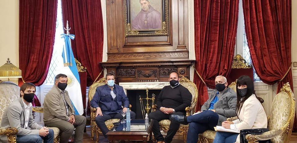 Baradero: Esteban Sanzio se reunió con Sergio Massa en el Congreso de la Nación