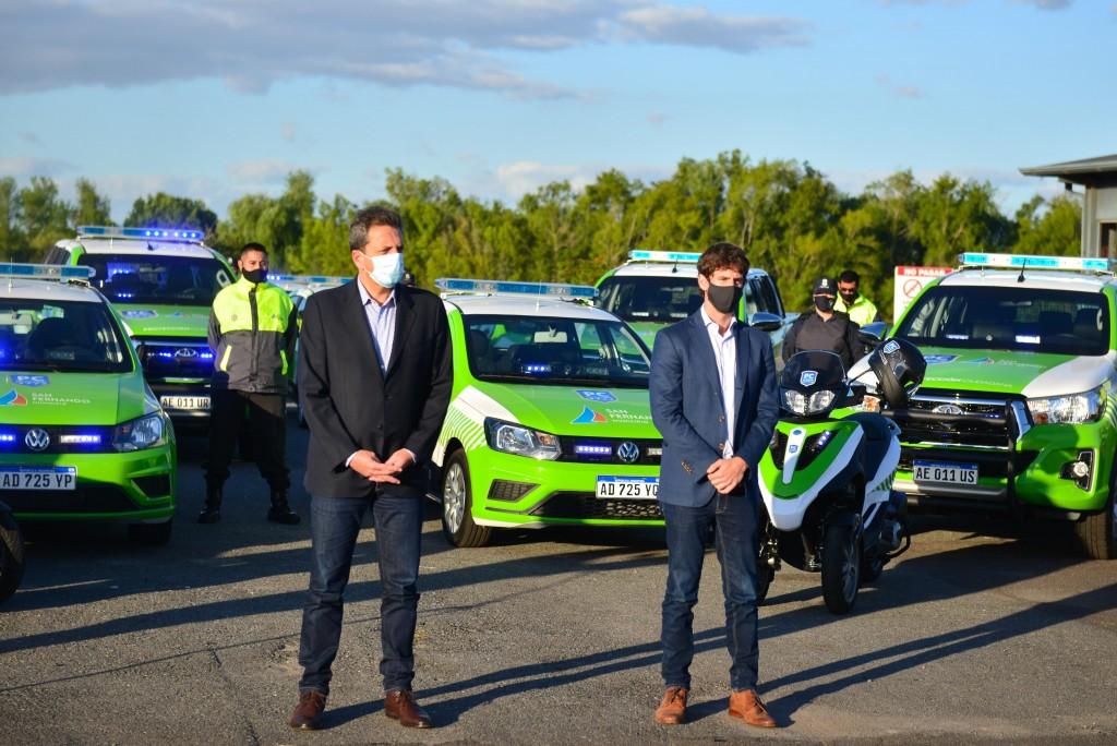 San Fernando: Andreotti y Massa presentaron 16 nuevos móviles y cámaras de seguridad