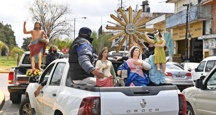San Fernando celebró una procesión vehicular por la fiesta de Santa Teresita, Patrona de Virreyes