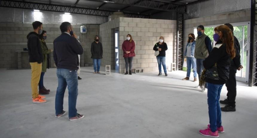 Merlo: Avanzan las obras del Salón de Usos Múltiples en el Barrio El Cortijo