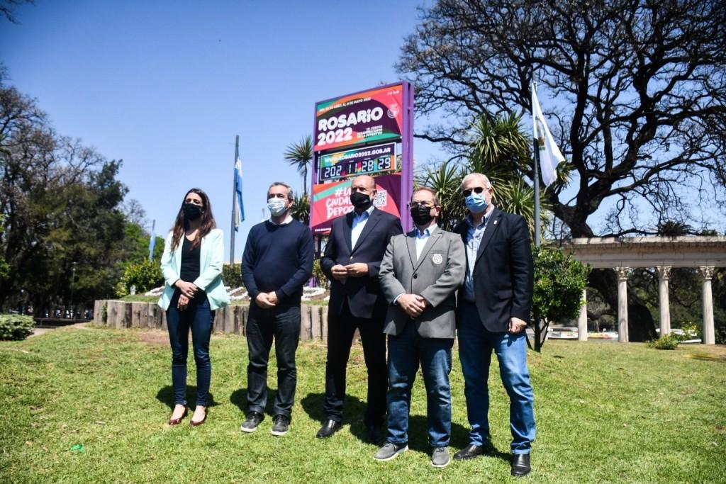 Rosario: Se presentó el reloj de la cuenta regresiva para Juegos Suramericanos de la Juventud