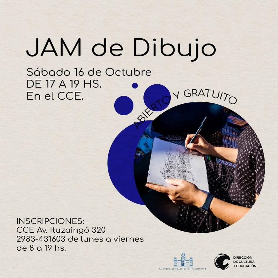 Tres Arroyos: JAM de Dibujo en el Centro Cultural la Estación