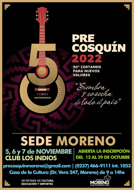 Moreno: Abrió la inscripción para participar del Pre Cosquin 2022