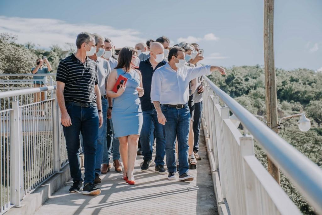 Misiones: El Gobernador Ahuad visitó Puerto Iguazú