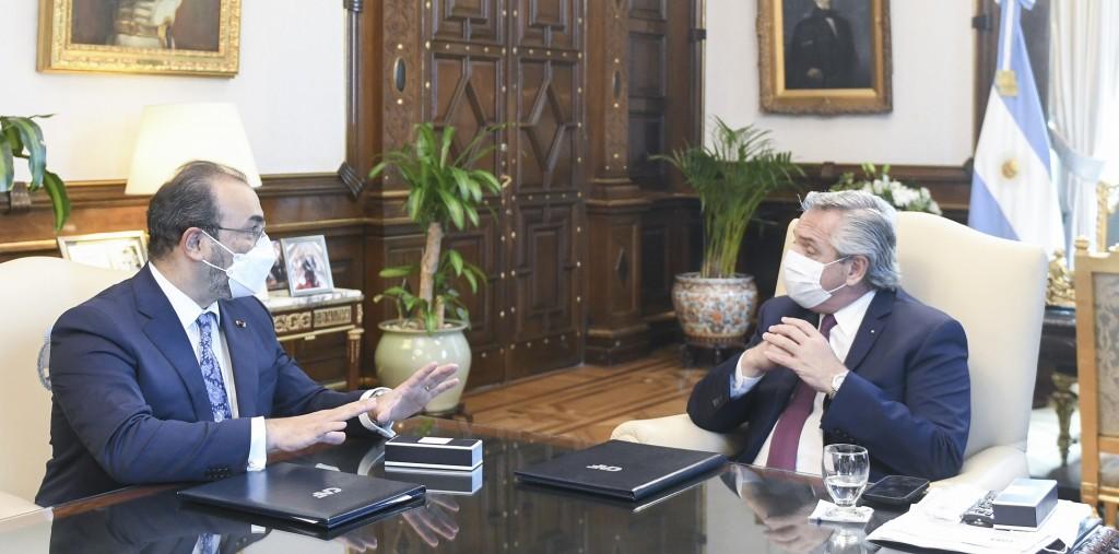 El Presidente se reunió con el titular de CAF, con quien acordó financiamiento por 2.670 millones de dólares para la Argentina