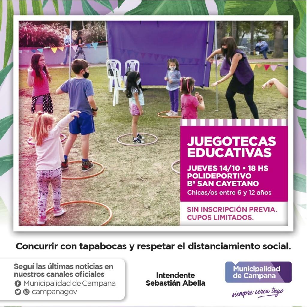 """Campana: Con nuevas propuestas para los más chicos, vuelven las """"Juegoteca Educativas"""""""