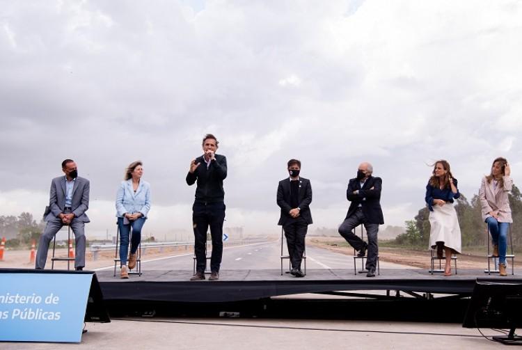 Kicillof y Katopodis inauguraron un tramo de la Autopista Presidente Perón