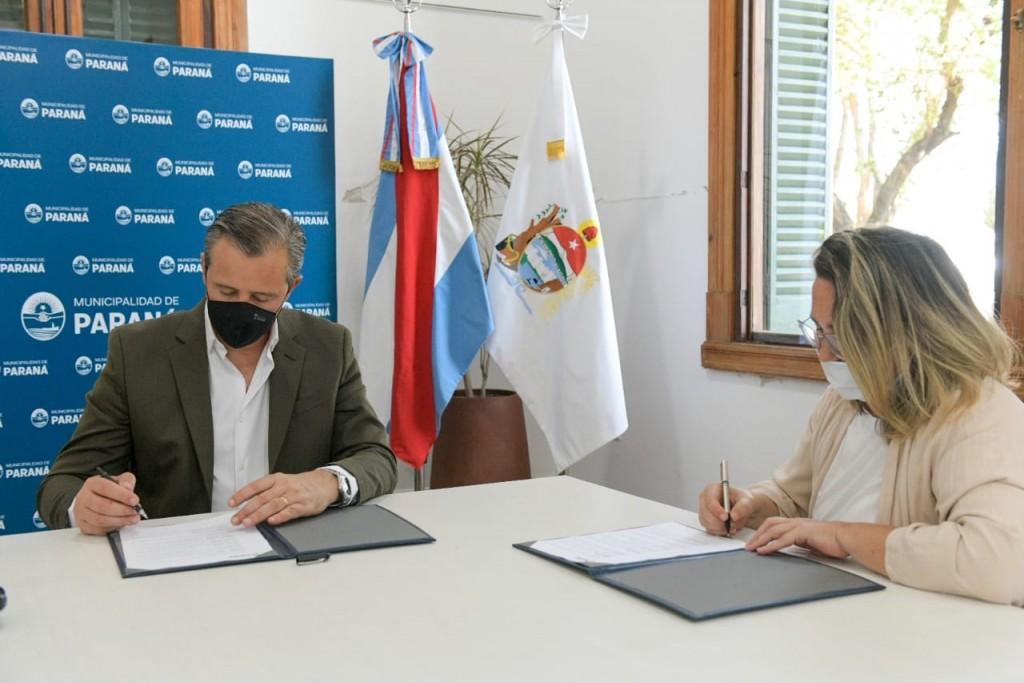 Paraná(ER): La Municipalidad y ASPASID firmaron un convenio para la inclusión laboral