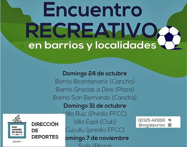 San Andrés de Giles: Encuentros deportivos y recreativos en los barrios