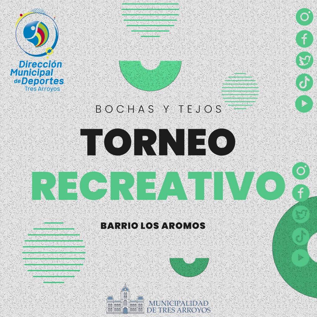 Tres Arroyos: Torneo recreativo de bochas y tejo en el distrito
