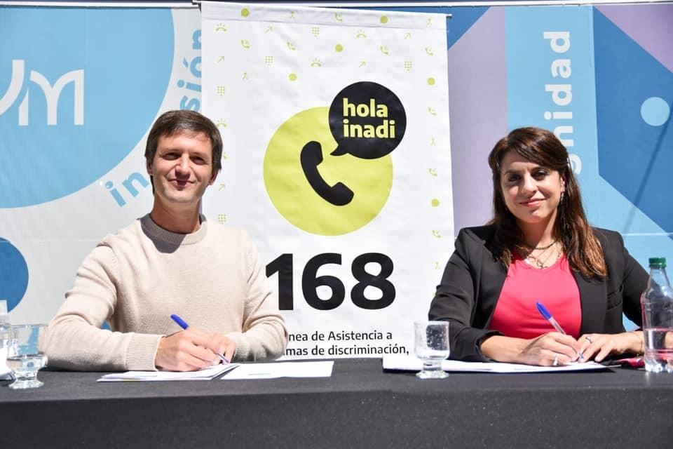 San Vicente: El Intendente firmó un convenio para la creación de una delegación del INADI