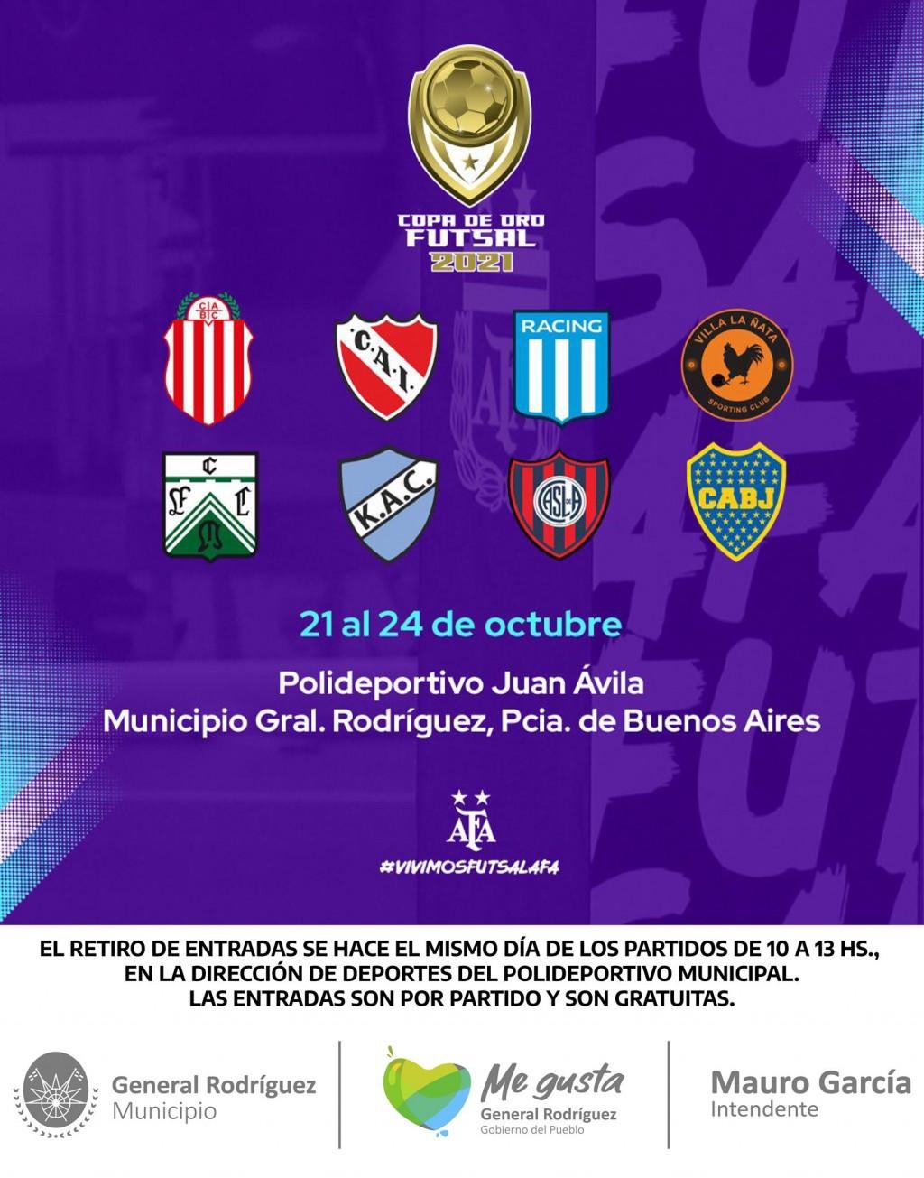 Gral. Rodríguez: Llegó La Copa de Oro AFA 2021 al distrito