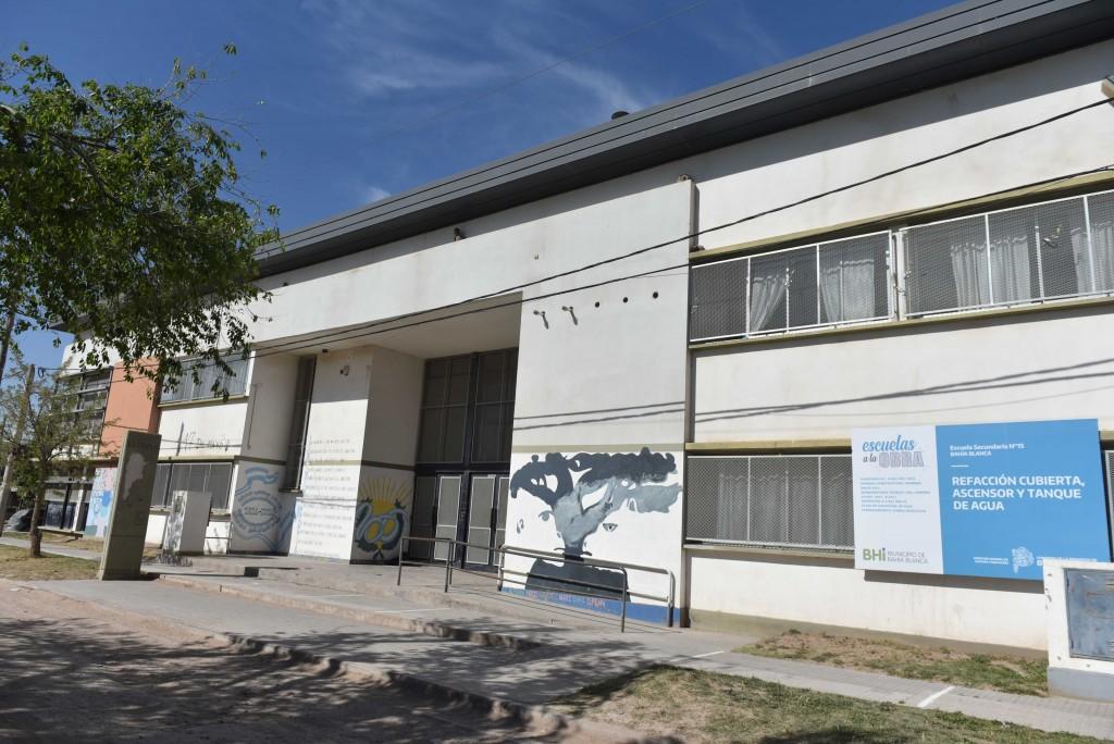 Bahía Blanca: Fase final en la refacción de la Escuela Secundaria Nº 15