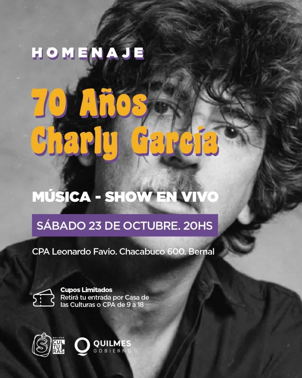 Quilmes: El Municipio invita a los vecinos al homenaje de Charly García