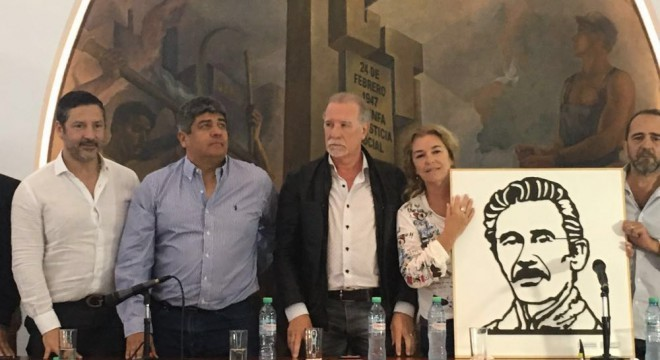 Intendentes peronistas y dirigentes de la CGT, homenajearon a José Rucci