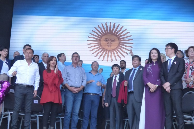 José C. Paz: Cristina reapareció en un acto junto a Mario Ishii