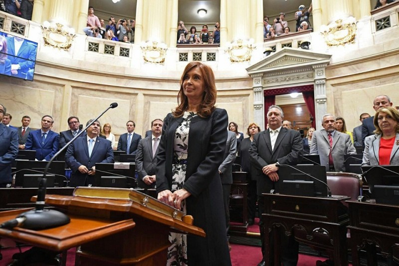 Senado: Juraron CFK, Menem, Rodríguez Saá y Bullrich