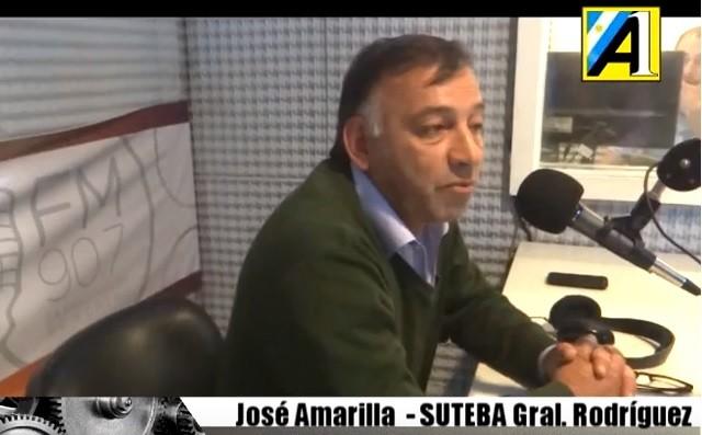 """José Amarilla (SUTEBA): """"En General Rodríguez hay escuelas sin terminar desde el 2015"""""""