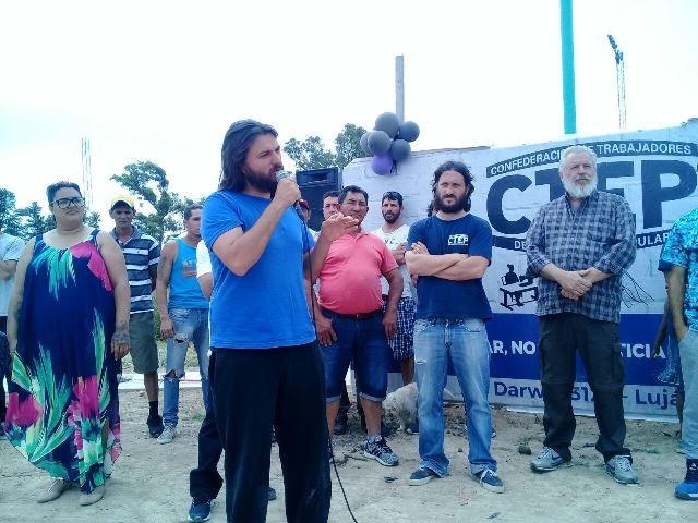 Luján: Dirigentes de la CTEP culminaron la construcción de 40 viviendas sociales