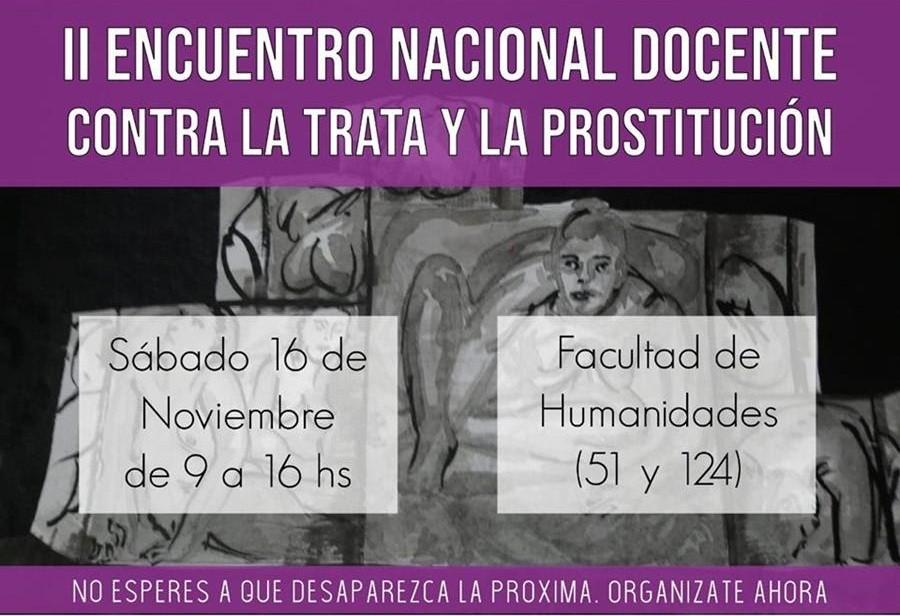 La Plata: El sábado se realiza el II° Encuentro Docente contra la Trata y la Prostitución