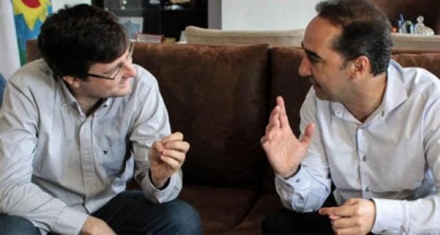 Ramiro Tagliaferro recibió hoy en su despacho al intendente electo Lucas Ghi