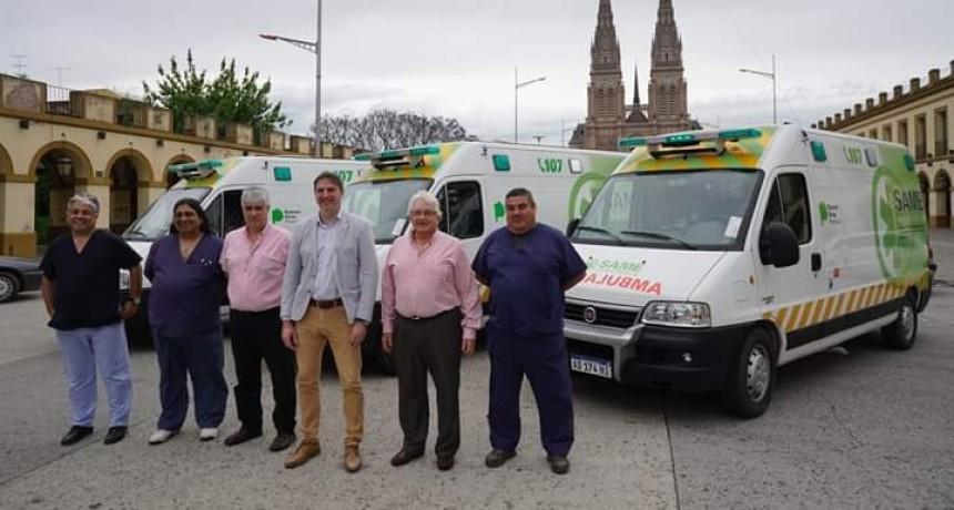 Llegaron a Luján las primeras ambulancias para el SAME