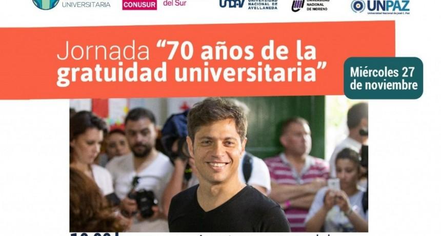 """José C. Paz: Ishii y Axel Kicillof inauguran la Jornada """"70 años de la gratuidad universitaria"""""""