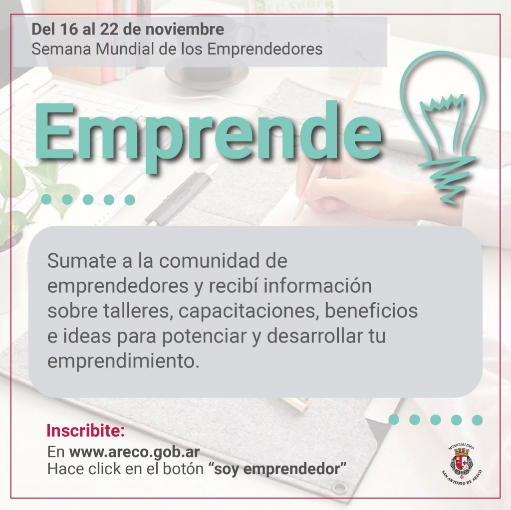 San Antonio de Areco: Inician inscripción de emprendedores en un programa de apoyo