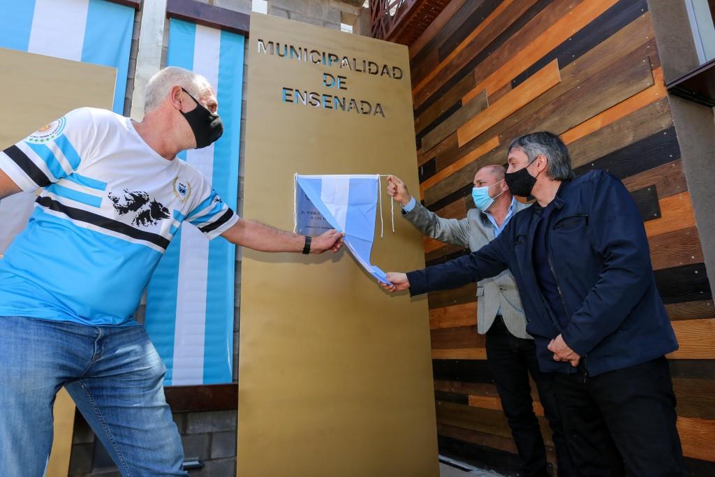 Ensenada: Secco y Máximo Kirchner inauguraron el Edificio Malvinas