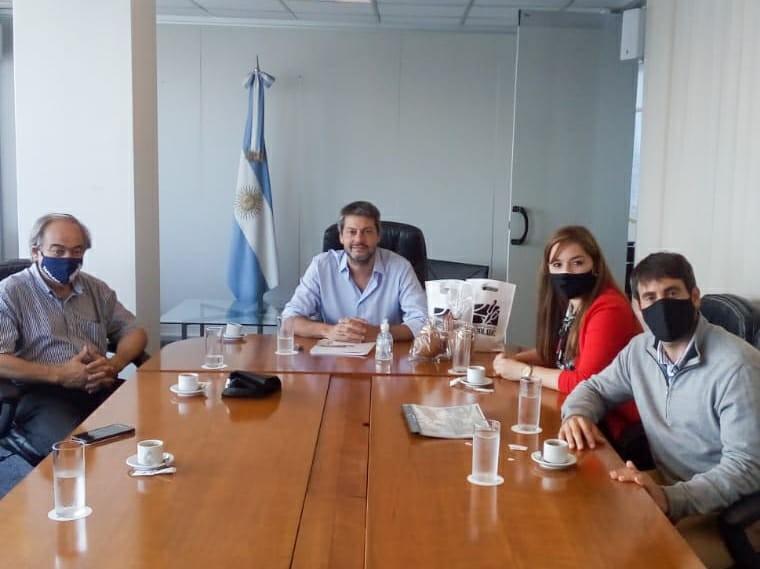 Tapalqué: El ministro Lammens recibió al jefe comunal Cocconi