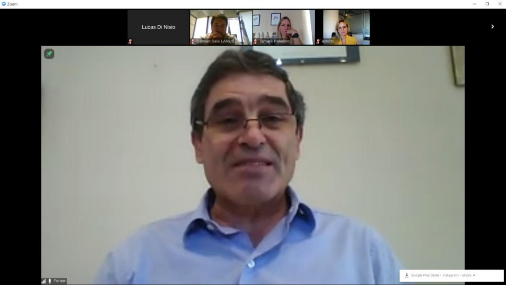 Lanús: Grindetti y el ministro Quirós analizaron el impacto del Covid-19 en el AMBA