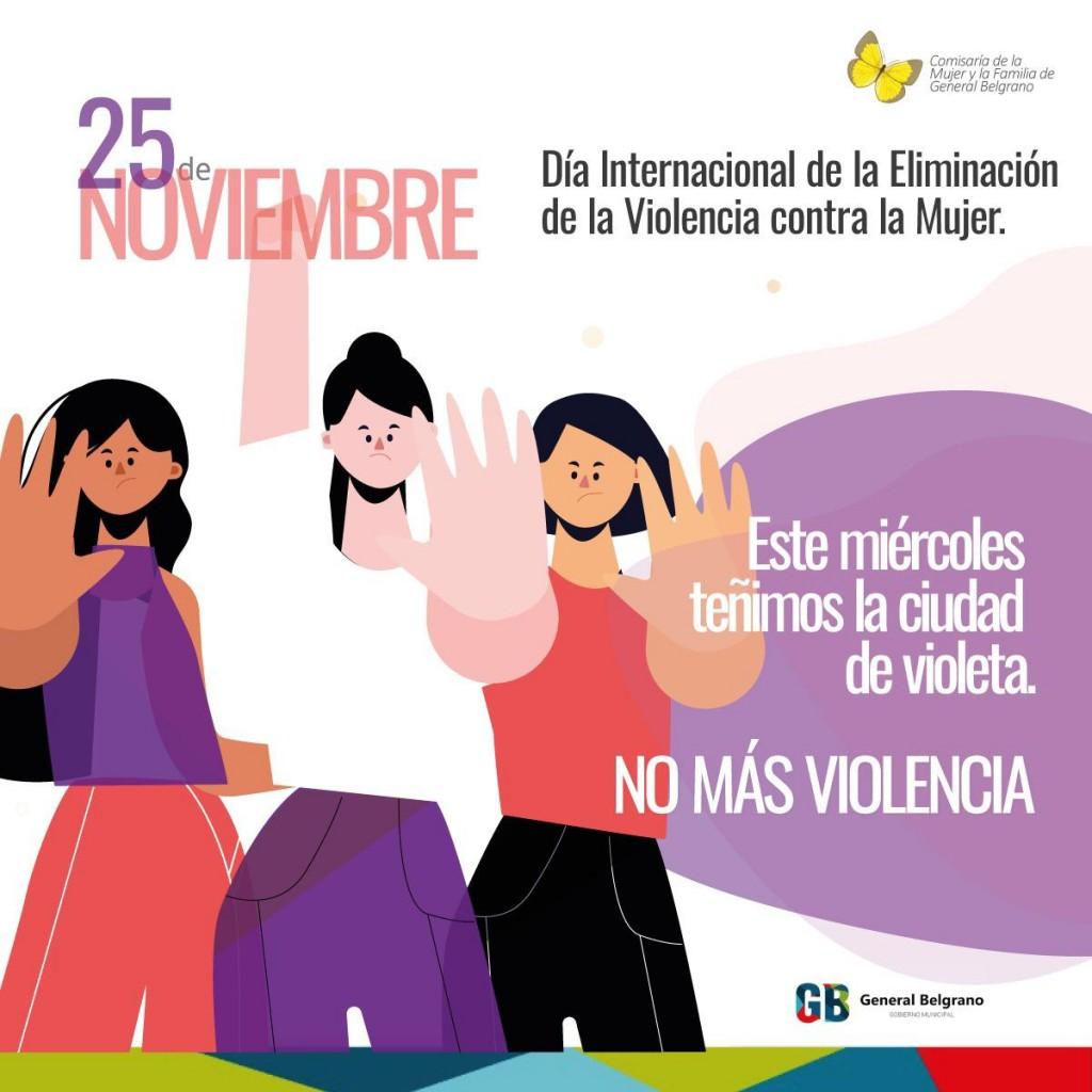 G. Belgrano: Día Internacional de la Eliminación de la Violencia contra la Mujer