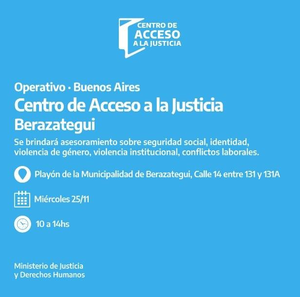 Berazategui: Operativo de atención legal primaria gratuita