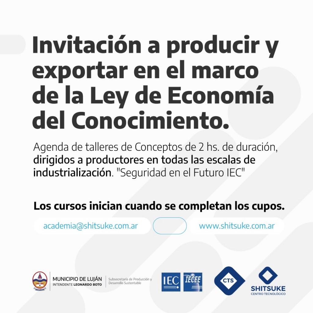 """Luján: Inscripción a los talleres virtuales """"Seguridad en el Futuro IEC"""""""