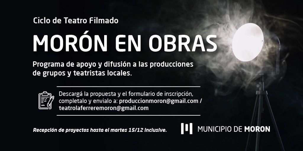 Morón: El Municipio lanzó la convocatoria #MorónEnObras para grupos de teatros locales