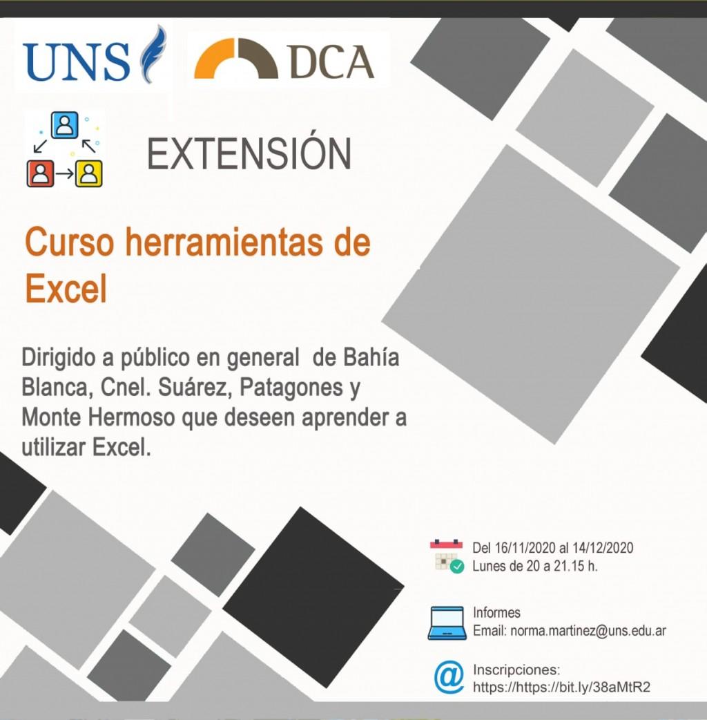 Monte Hermoso: Curso gratuito y virtual para el uso de herramientas de Excel