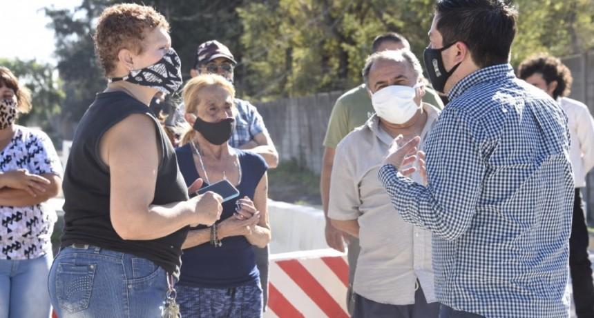 Malvinas Argentinas: Nardini inauguró un nuevo tramo de la calle Madame Curie