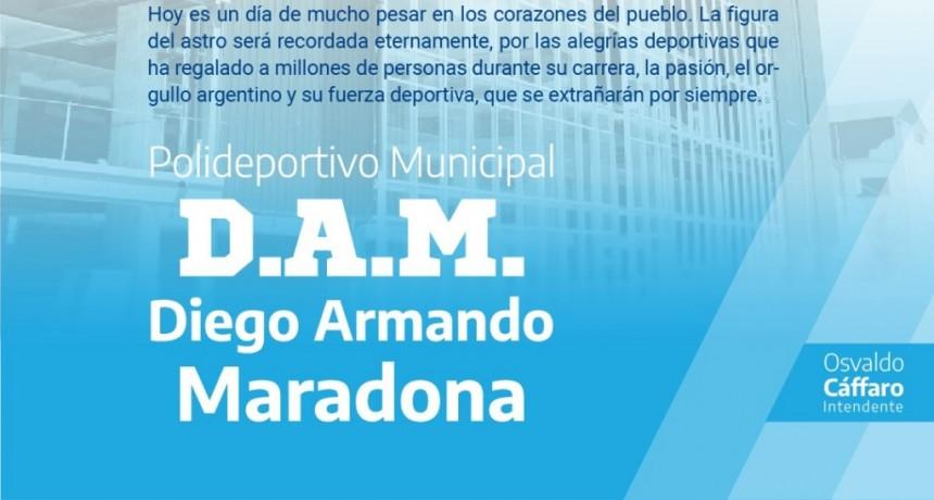 """Zárate: El futuro Polideportivo Municipal se llamará """"Diego Armando Maradona"""" en homenaje al astro del fútbol"""