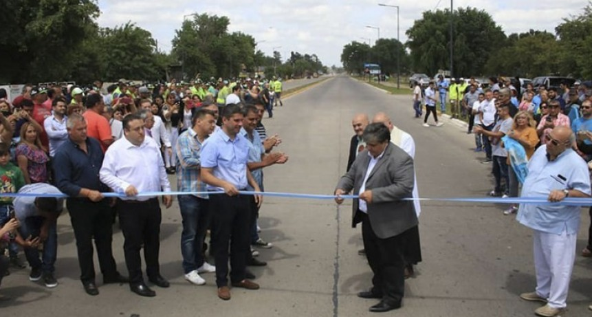 José C. Paz: Ishii inauguró la repavimentación de la Ruta Provincial 24 (ex 197)