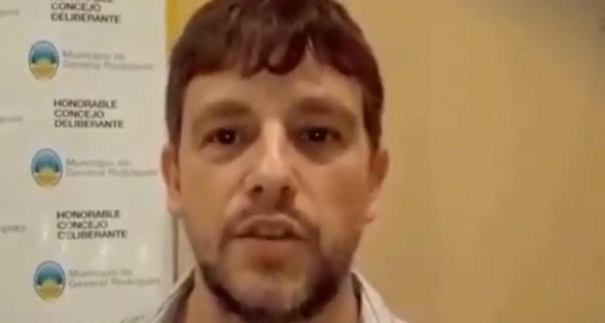 """Diego Ghirardi: """"El equipo de trabajo del intendente Kubar es realmente penoso"""""""