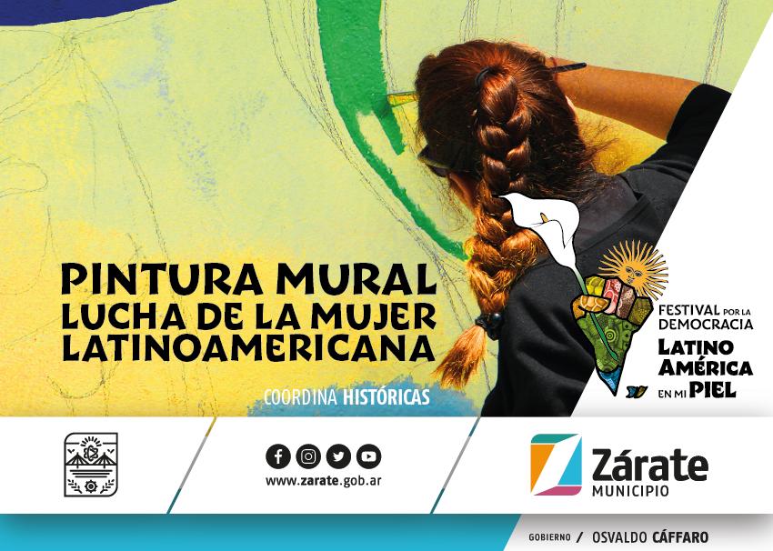 En Zárate pintarán un mural por la lucha de la mujer latinoamericana
