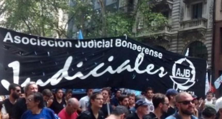 La AJB realiza un paro el jueves 5 con acciones en los 19 Departamentos Judiciales