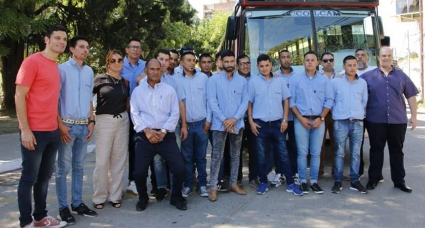 Mauro García participó de la presentación de 30 unidades nuevas de transporte